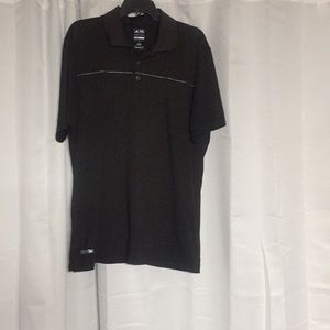 Addias men's black golf shirt size large